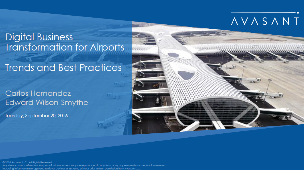 Digital Business Transformation for Airports - Avasant