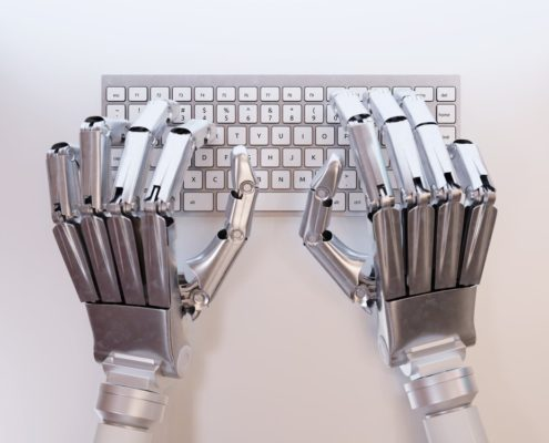 Robotic hands on keyboard 495x400 - Sourcing Advisory