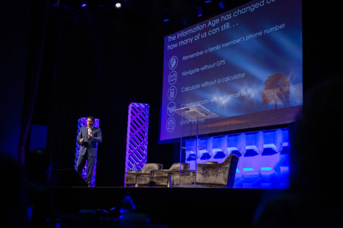 "Kevin S. Parikh (Avasant CEO) presents his keynote, ""Dare to Dream: Future of the Digital Enterprise"" on the main stage at The Novo at LA Live for Empowering Beyond Summit 2019"