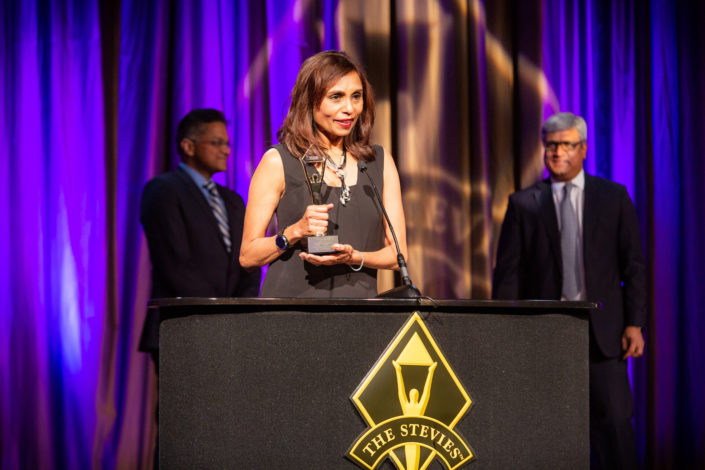 Chitra accepts Gold Stevie recognition at 15th Annual Stevie Awards for Women in Business