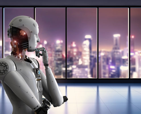 Robot thinking and looking outside 495x400 - Avasant Research Bytes