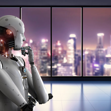 Robot thinking and looking outside 450x450 - The Digital Transformation Journey: Lessons from a CIO's Perspective Part One: The Challenges Faced by Organizations