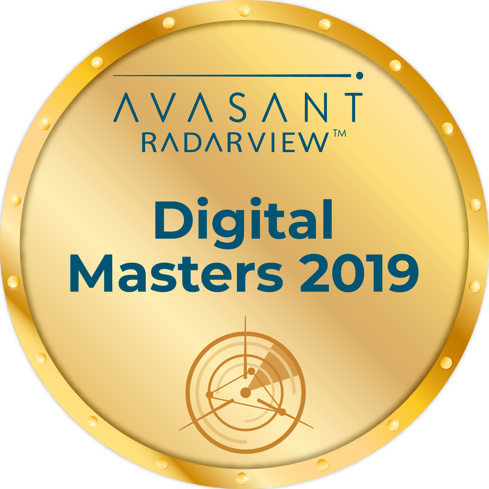 Round Badge Digital Masters 2019 - RadarView™