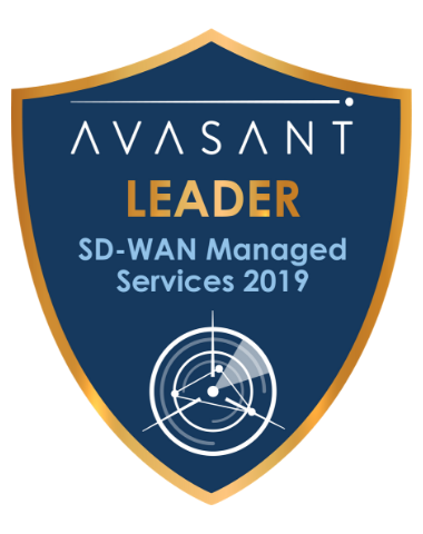 SD WAN Leader Badge - SD-WAN Managed Services 2019 IBM RadarView™ Profile
