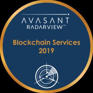 Blockchain Services 2019 Round Badge