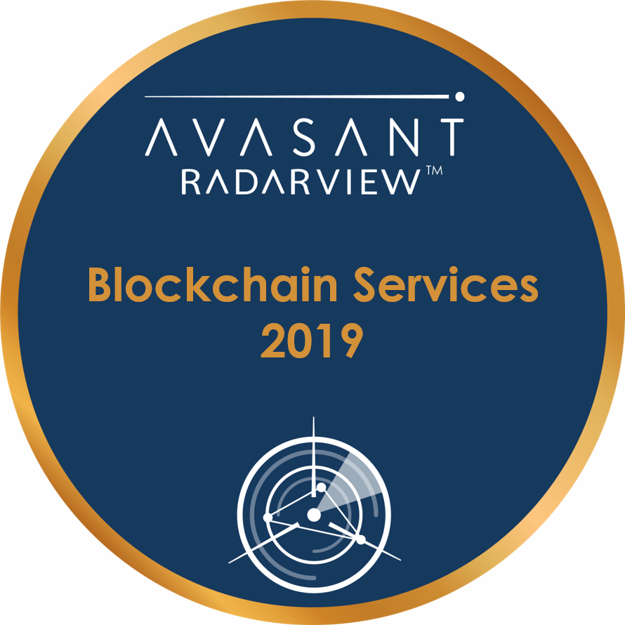 Blockchain Services 2019 Round Badge