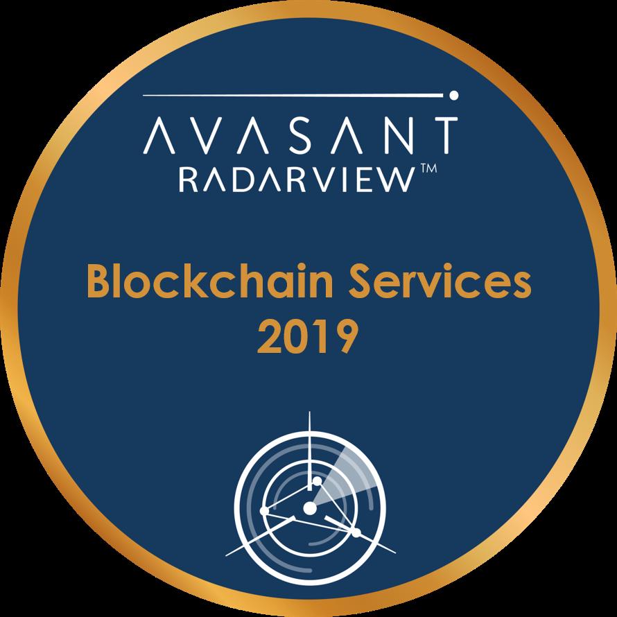 Blockchain Services 2019 Round Badge - RadarView™
