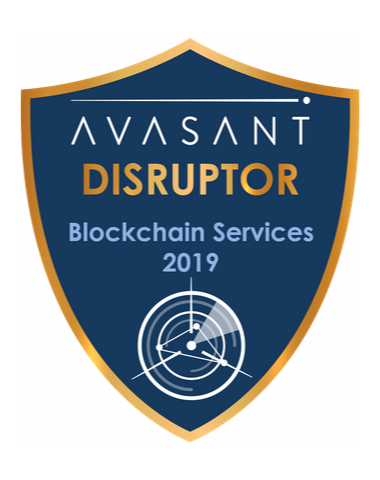 Blockchain disruptor badge 2019