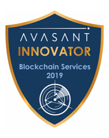 Blockchain innovator badge 2019 - Blockchain Services 2019 Capgemini RadarView™ Profile