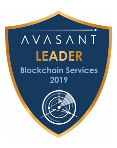 Blockchain leader badge 2019 - Blockchain Services 2019 IBM RadarView™ Profile