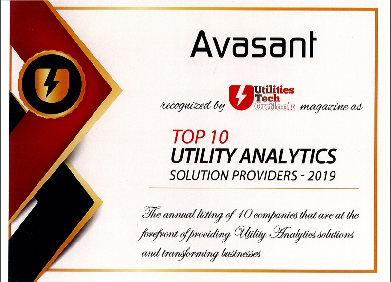 Avasant Recognized by Utilities Tech Outlook - Digital