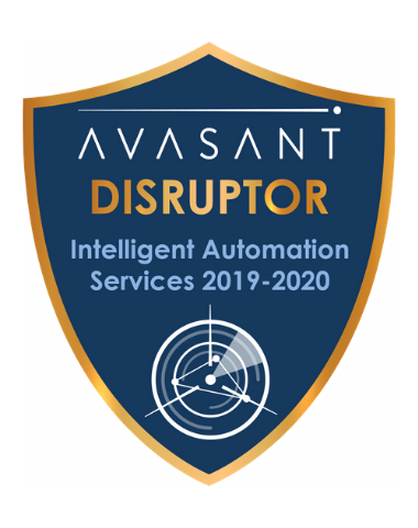 IA Disruptor badge 1 - Intelligent Automation Services RadarView™ 2019-2020 - Zensar
