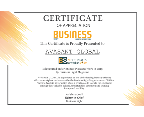 Business Sight Avasant Certificate 495x400 - Avasant Research Bytes