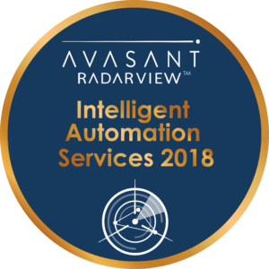 intelligent automation services 2018 - RadarView™