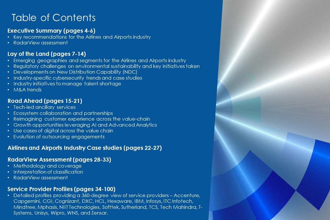 TOC AirlinesAirports 2019 2020 - Airlines and Airports Digital Services 2019-2020 RadarView™