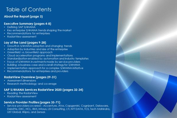 TOC SAP4HANA 2020 600x400 - SAP S/4HANA Services 2020 RadarView™