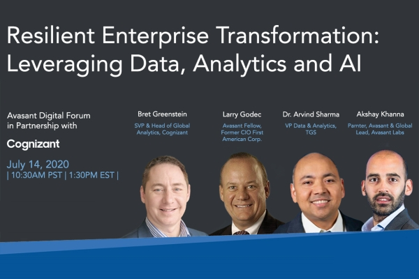 July14 Webinarimage 600x400 - Resilient Enterprise Transformation: Leveraging Data, Analytics and AI