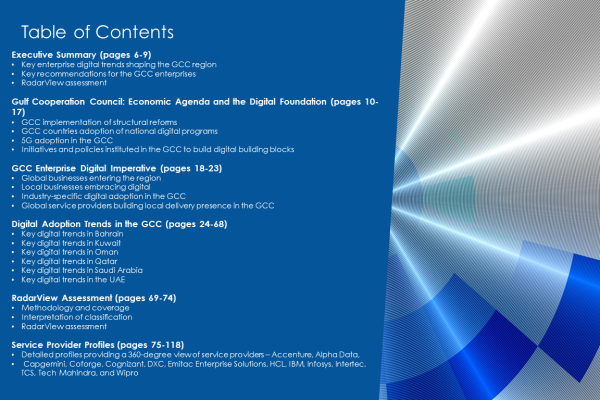 GCCRVpublishing TOC 600x400 - GCC Region Digital Services 2020-2021 RadarView™