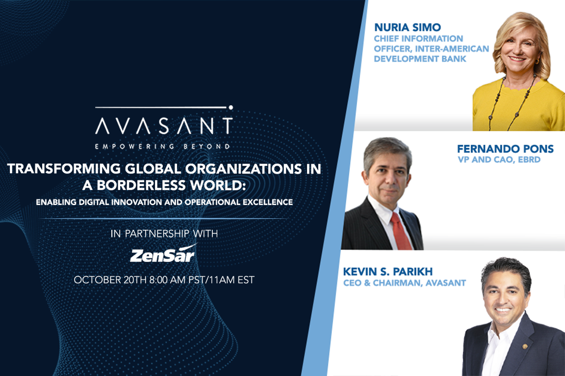 Executives from Avasant, IDB, and EBRD as they discuss Transforming Global Organizations in a Borderless World