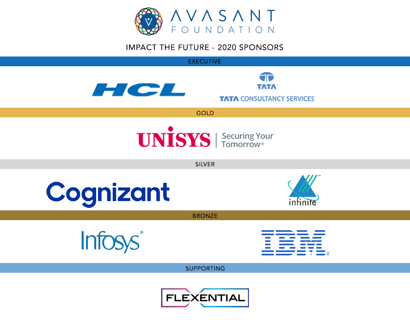 foundation sponsors - Avasant Foundation Presents Gratitude and Cheers: Impact the Future 2020 Events
