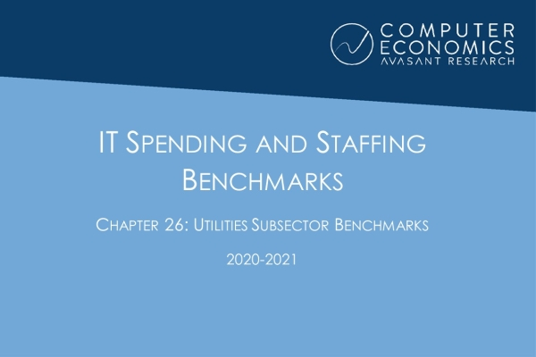 ISS2020 21Chapter26 600x400 - IT Spending and Staffing Benchmarks 2020-2021: Chapter 26: Utilities Subsector Benchmarks