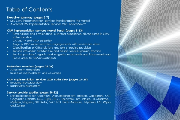 CRM Implementation Services 2021 TOC 600x400 - CRM Implementation Services 2021 RadarView™