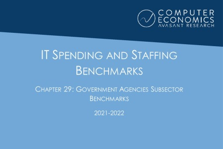 ch292021 450x300 - IT Spending and Staffing Benchmarks 2021/2022: Chapter 29: Government Agencies Subsector Benchmarks