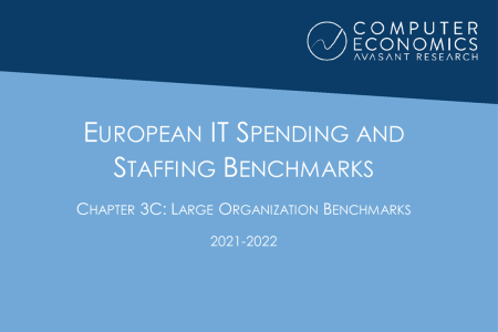 EUISS2021Ch3c 450x300 - European IT Spending and Staffing Benchmarks 2021/2022: Chapter 3C: Large Organization Benchmarks