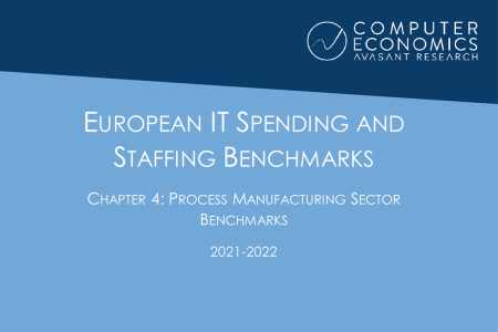 EUISS2021Ch4 450x300 - European IT Spending and Staffing Benchmarks 2021/2022: Chapter 4: Process Manufacturing