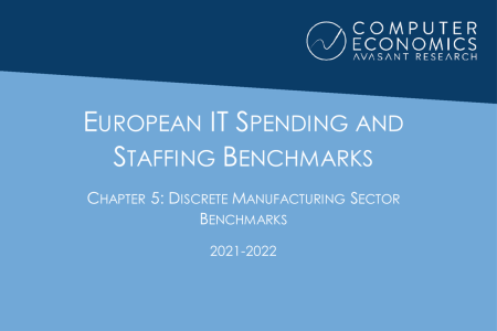 EUISS2021Ch5 450x300 - European IT Spending and Staffing Benchmarks 2021/2022: Chapter 5: Discrete Manufacturing